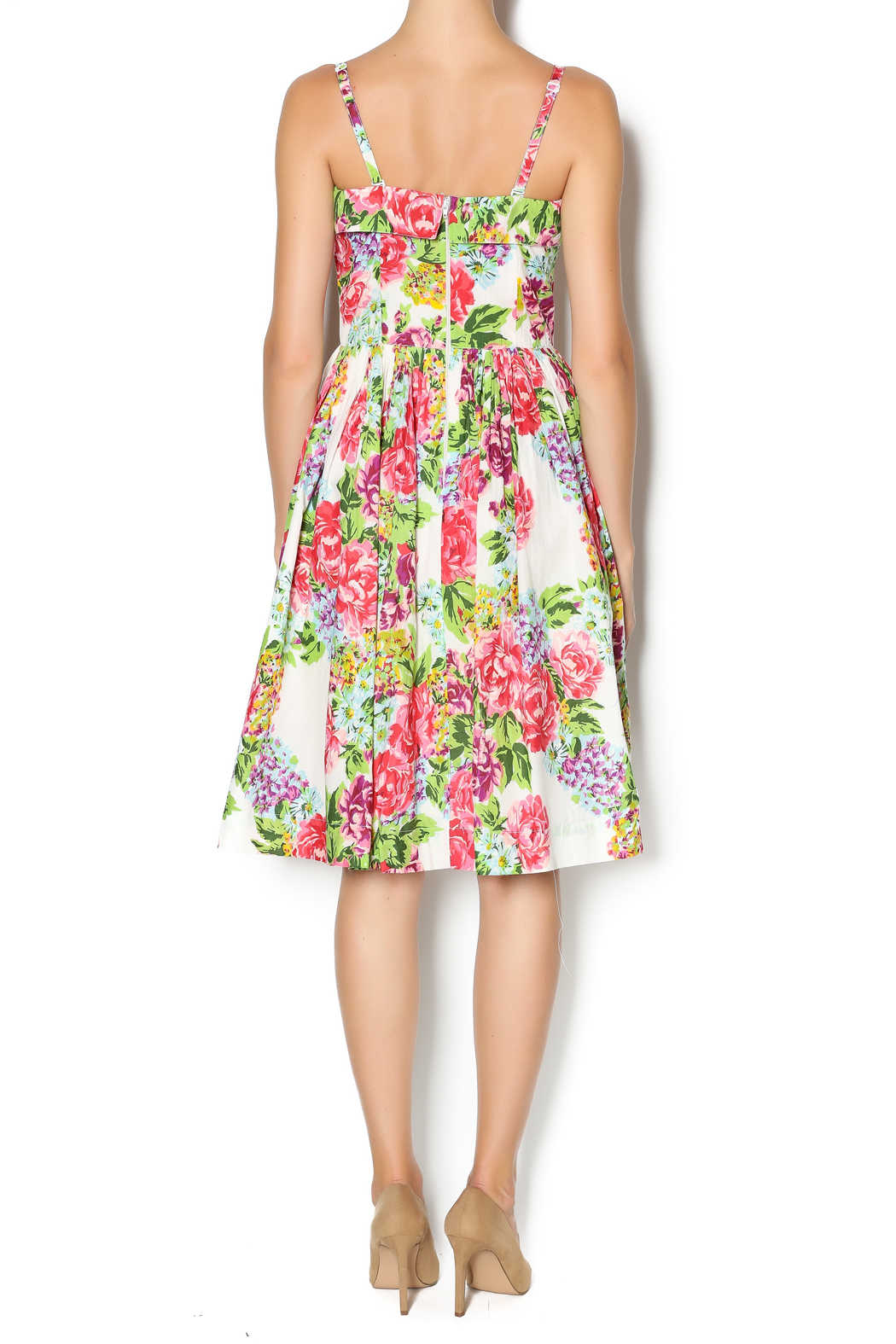 Aryeh Beaded Rose Floral Dress - Side Cropped Image