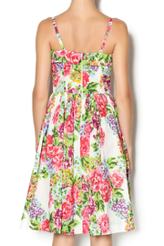 Aryeh Beaded Rose Floral Dress - Back cropped