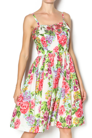 Aryeh Beaded Rose Floral Dress - Product Mini Image