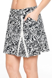 Aryeh Black And White Lace Detail Skort - Side cropped
