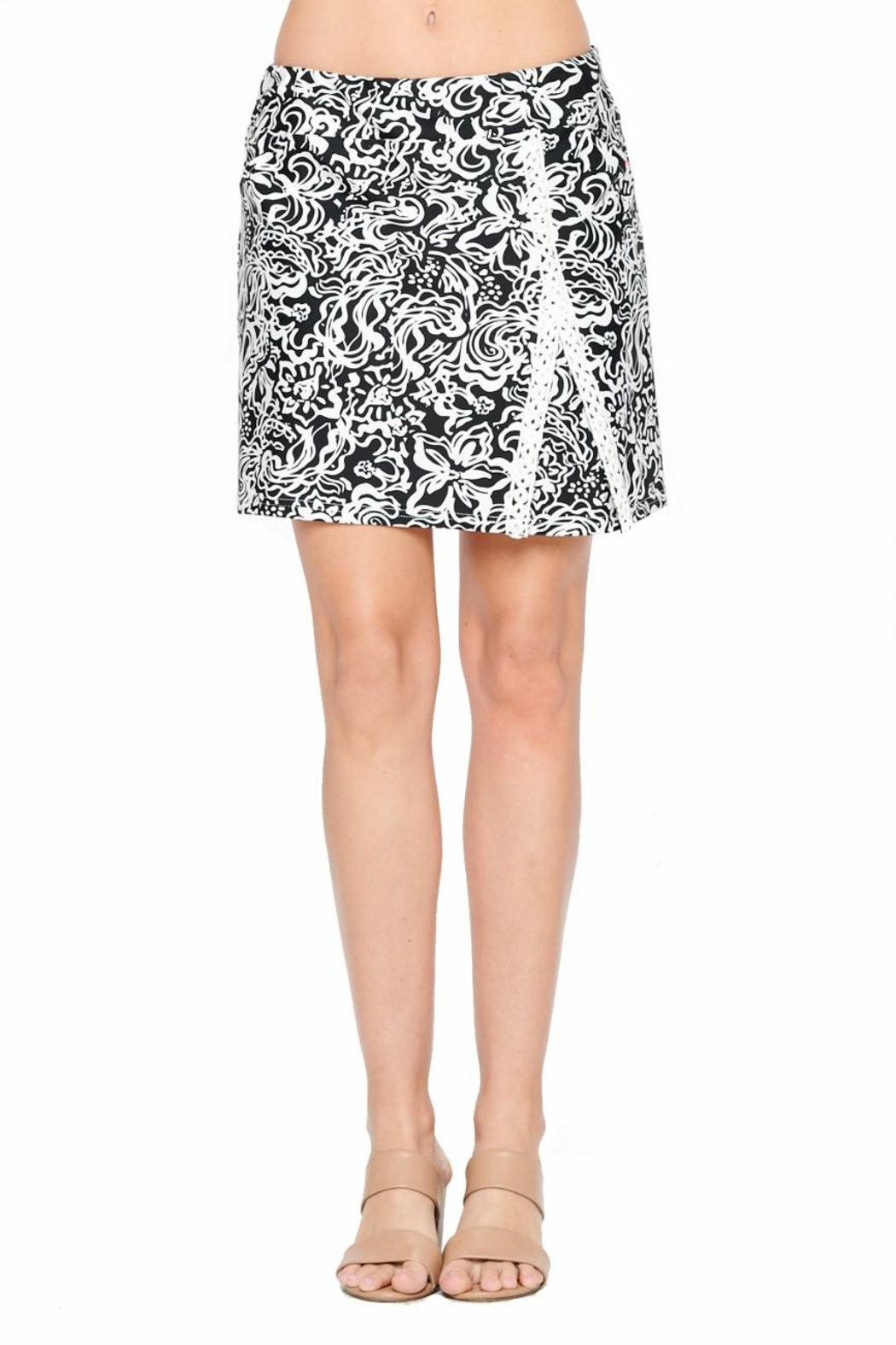 Aryeh Black And White Lace Detail Skort - Main Image