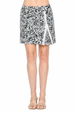 Shoptiques Product: Black And White Lace Detail Skort