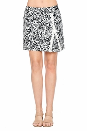 Aryeh Black And White Lace Detail Skort - Product Mini Image