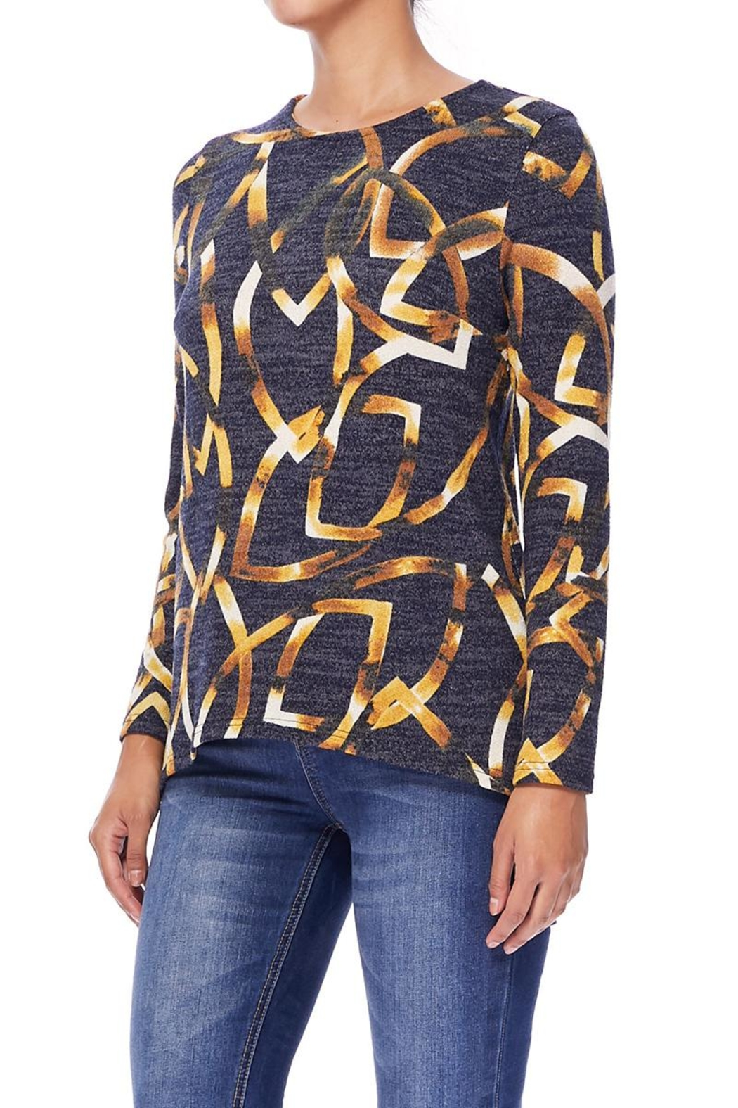 Aryeh Black And Yellow Hi-Low Top - Side Cropped Image