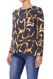 Aryeh Black And Yellow Hi-Low Top - Side cropped