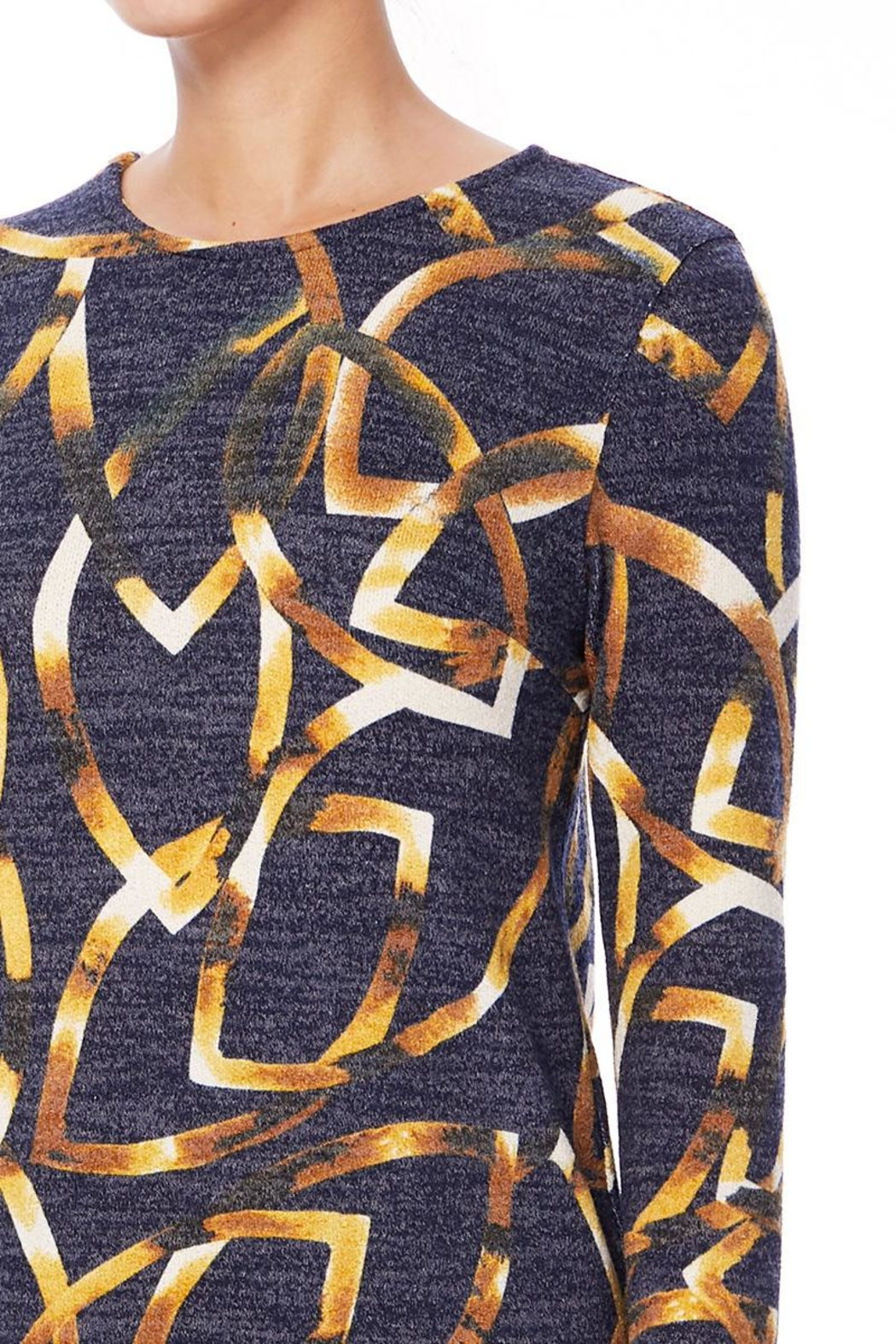 Aryeh Black And Yellow Hi-Low Top - Front Full Image