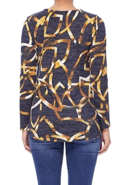 Aryeh Black And Yellow Hi-Low Top - Back cropped