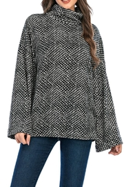 Aryeh Black Mock Neck Pullover - Product Mini Image