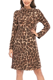 Aryeh Brown Cowl Neck Dress - Product Mini Image