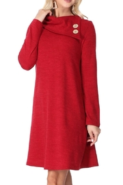Aryeh Cherry Cowl Neck Dress - Side cropped