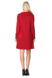 Aryeh Cherry Cowl Neck Dress - Back cropped