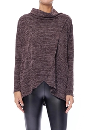 Aryeh Chocolate Cowl Neck Top - Front cropped