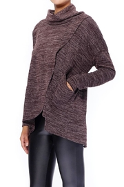 Aryeh Chocolate Cowl Neck Top - Side cropped