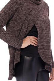 Aryeh Chocolate Cowl Neck Top - Front full body