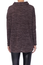 Aryeh Chocolate Cowl Neck Top - Back cropped