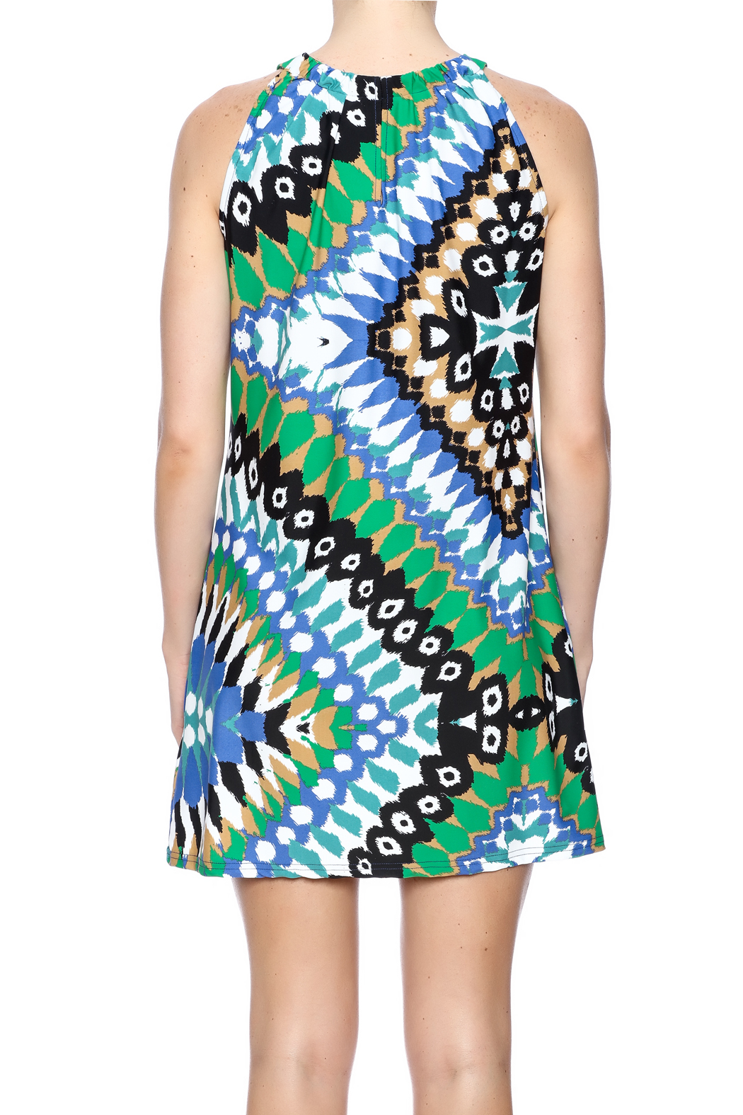 Aryeh Contemporary Print Dress - Back Cropped Image