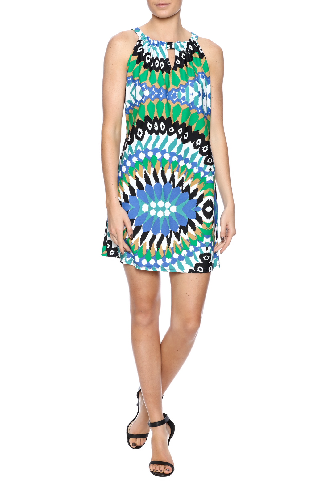 Aryeh Contemporary Print Dress - Front Full Image