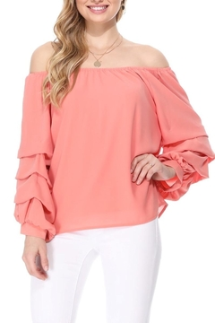 Aryeh Coral Off Shoulder Top - Product List Image