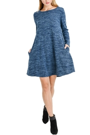 Aryeh Denim Long Sleeve Dress - Front cropped