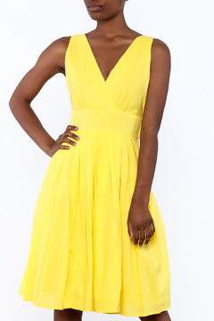 Aryeh Yellow Sleeveless Knee Dress - Product List Image