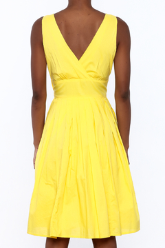 Aryeh Yellow Sleeveless Knee Dress - Alternate List Image