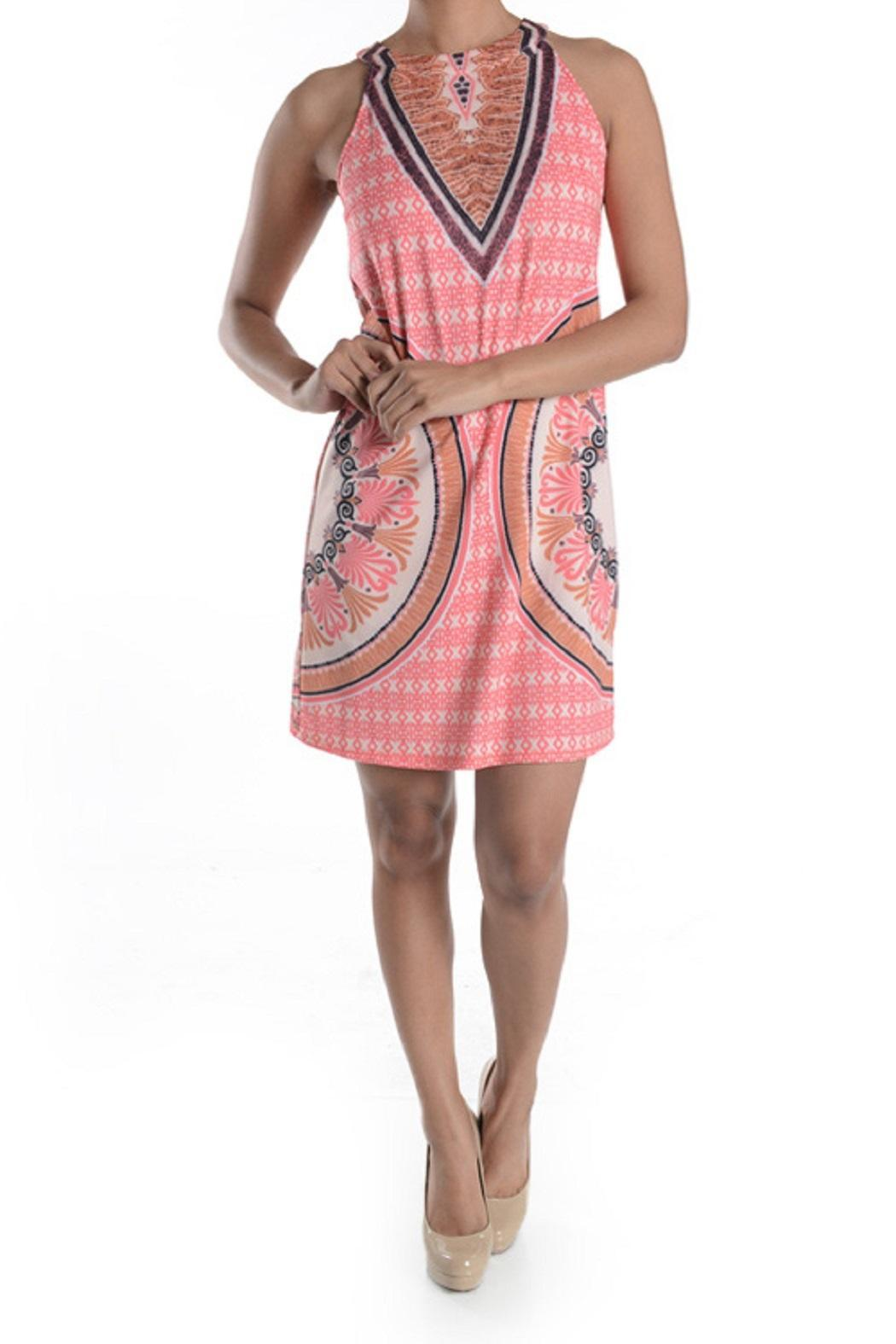 Aryeh Coral Print Dress - Main Image