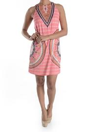 Aryeh Coral Print Dress - Front cropped