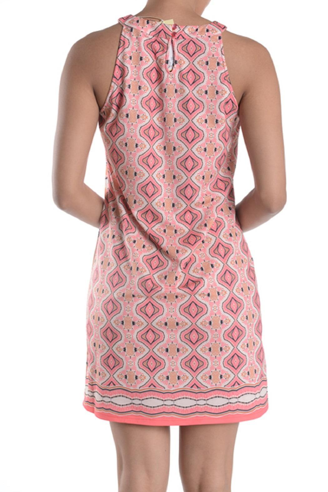 Aryeh Coral Print Dress - Back Cropped Image