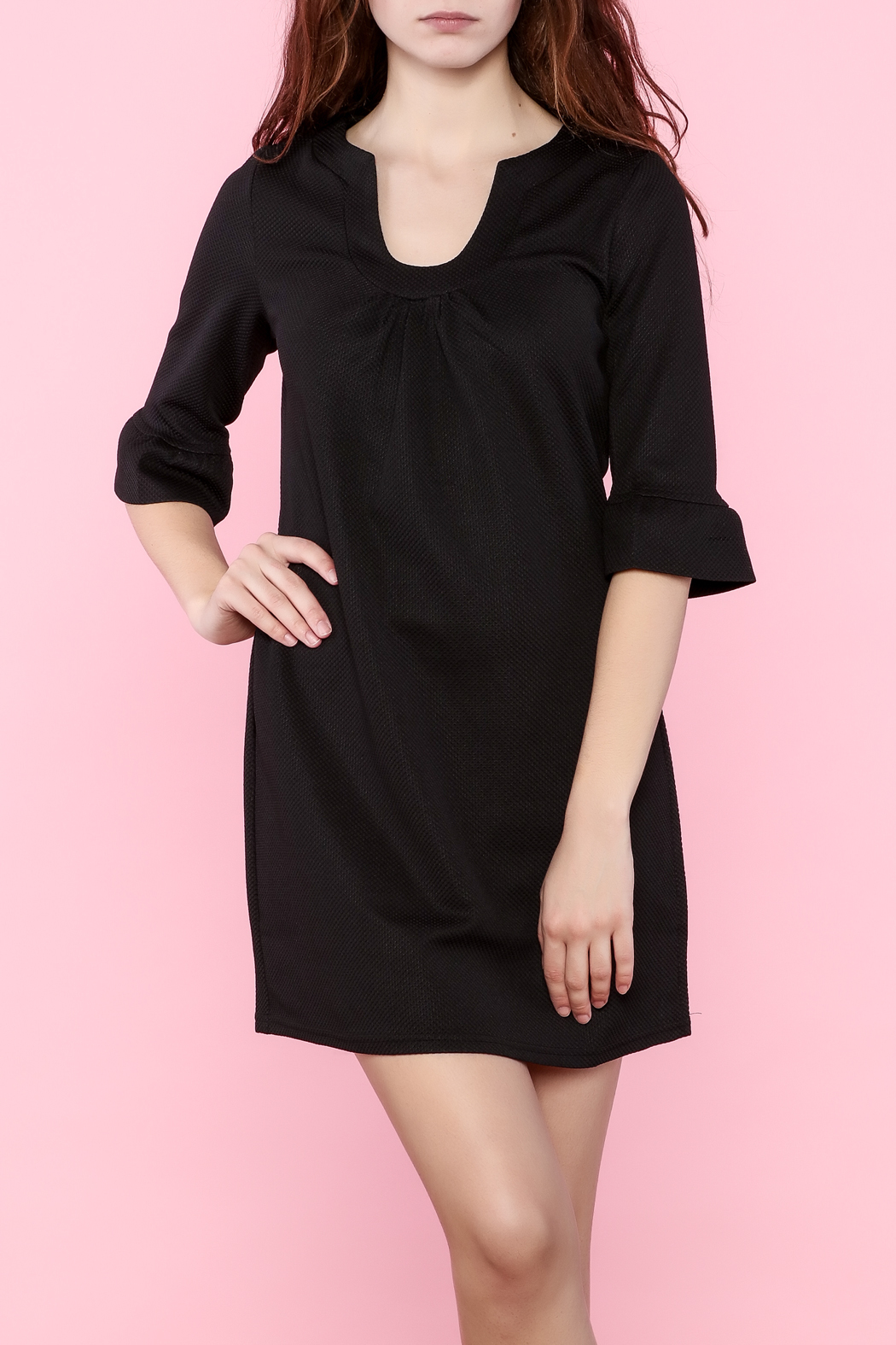 Aryeh Three-Quarter Sleeve Dress - Front Cropped Image