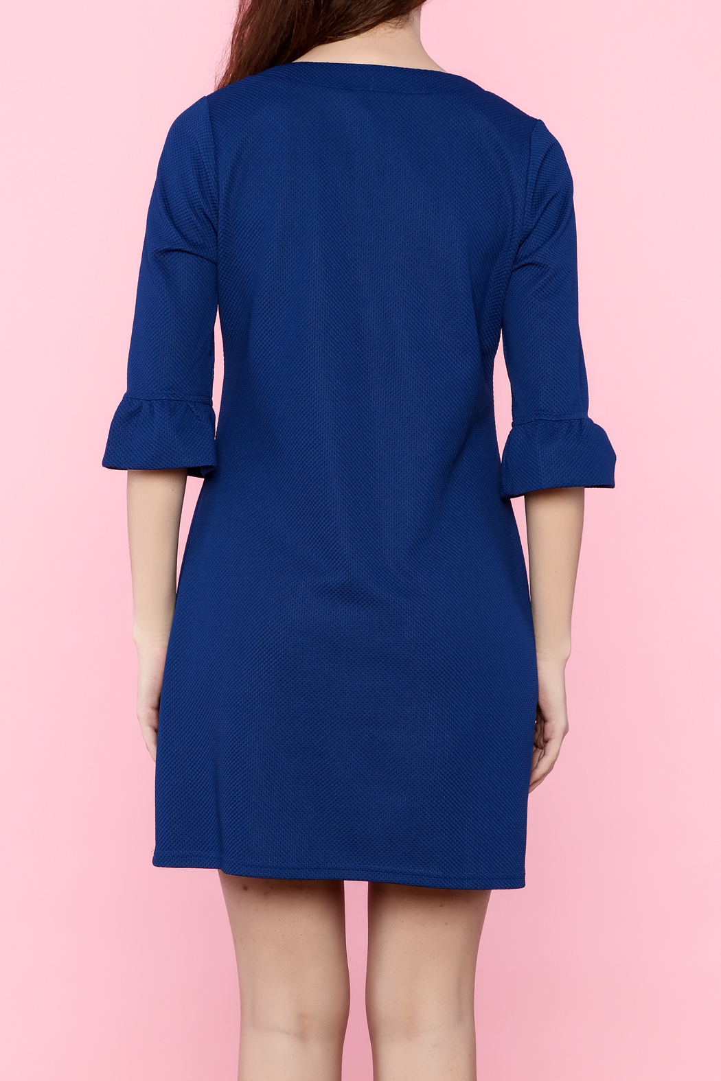 Aryeh Three-Quarter Sleeve Dress - Back Cropped Image