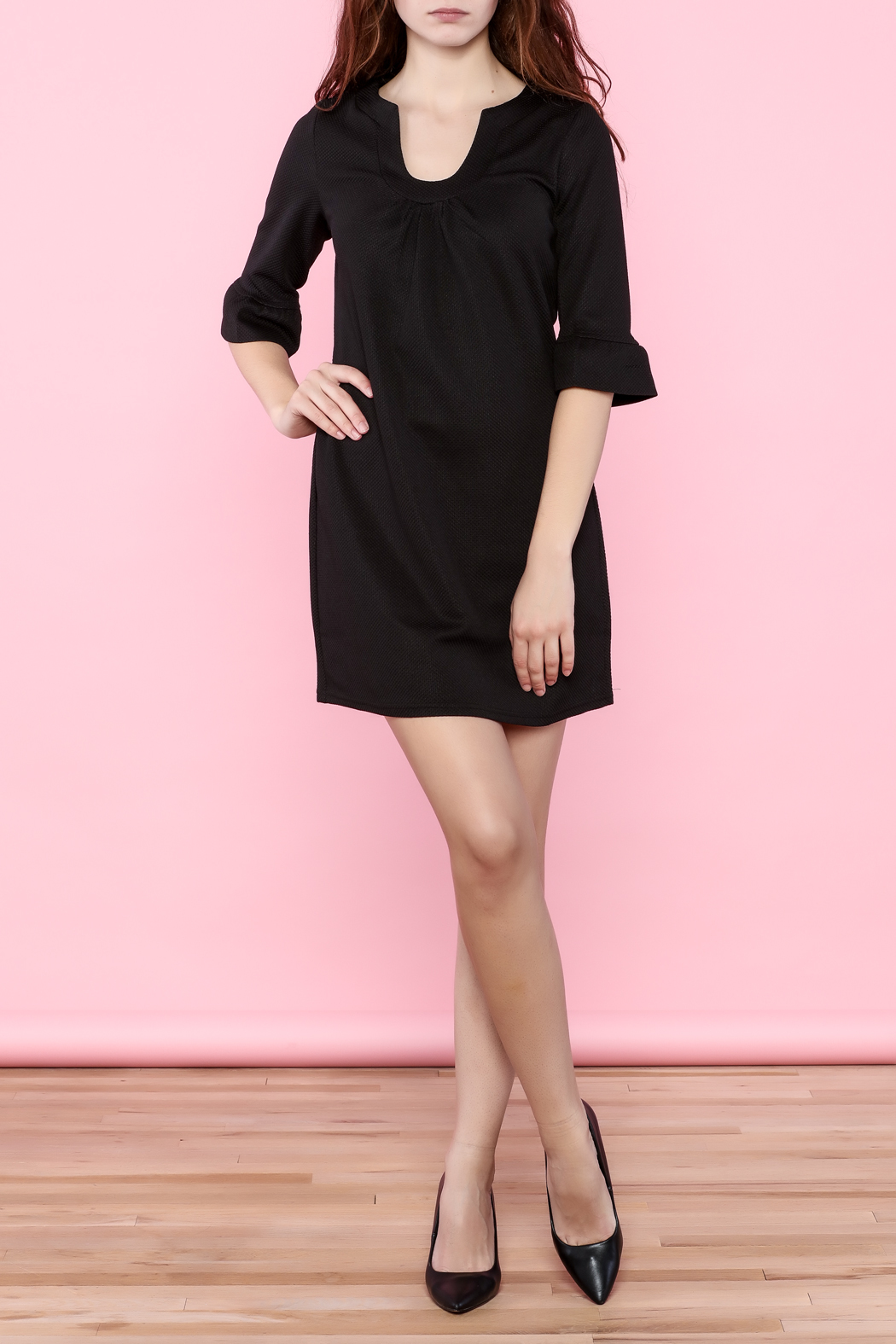 Aryeh Three-Quarter Sleeve Dress - Front Full Image
