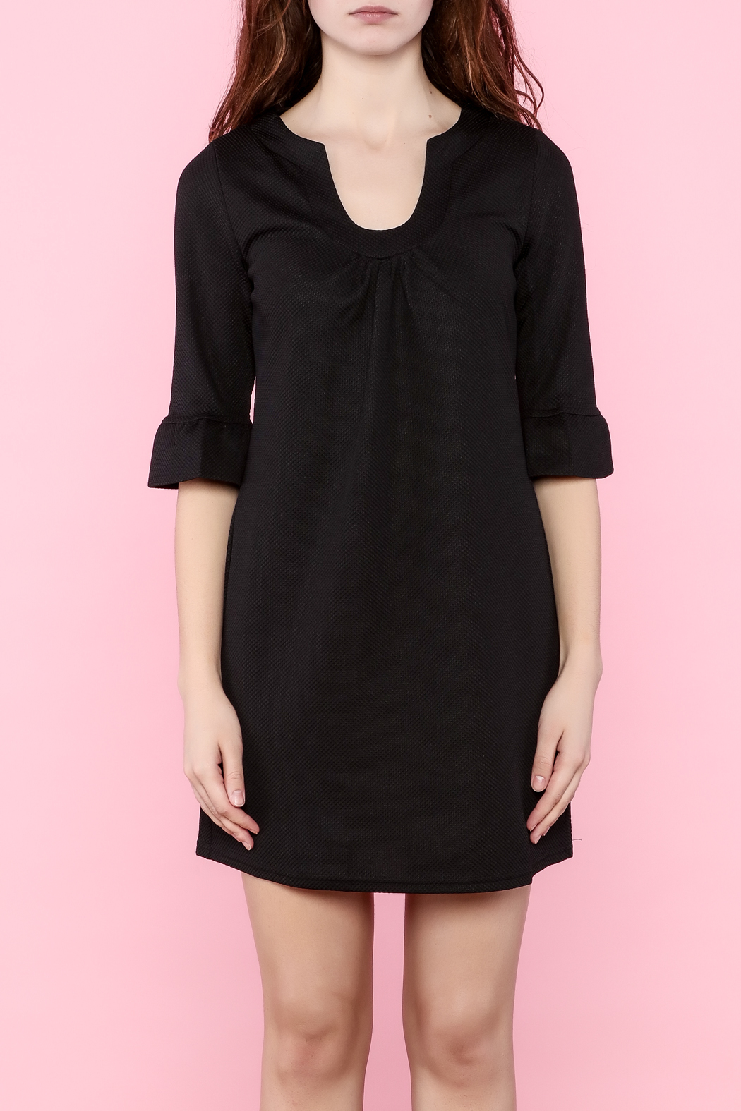 Aryeh Three-Quarter Sleeve Dress - Side Cropped Image