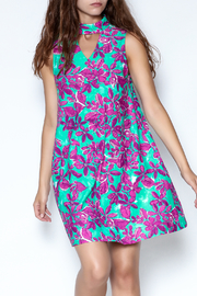 Aryeh Floral Choker Dress - Product Mini Image