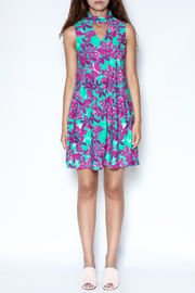 Aryeh Floral Choker Dress - Front full body