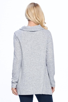 Aryeh Gray Cowl Neck Knit Top - Alternate List Image