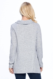 Aryeh Gray Cowl Neck Knit Top - Side cropped