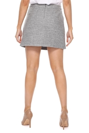 Aryeh Gray Wool Mini Skirt - Back cropped