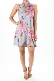 Aryeh Grey Floral Dress - Product Mini Image