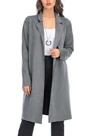 Aryeh Grey Open Front Coat - Product Mini Image