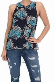 Aryeh High-Low Floral Top - Product Mini Image