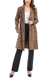 Aryeh Leopard Open Front Coat - Product Mini Image