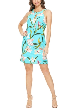 Aryeh Mint Cutout Floral Dress - Product List Image