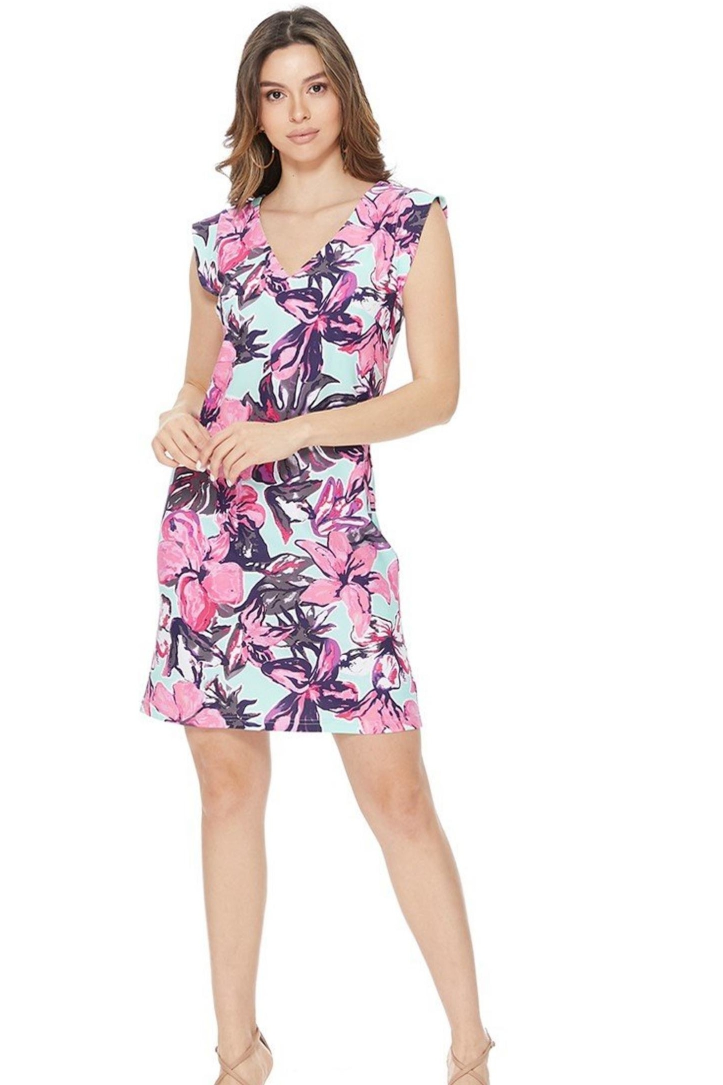 Aryeh Mint Floral Dress - Main Image