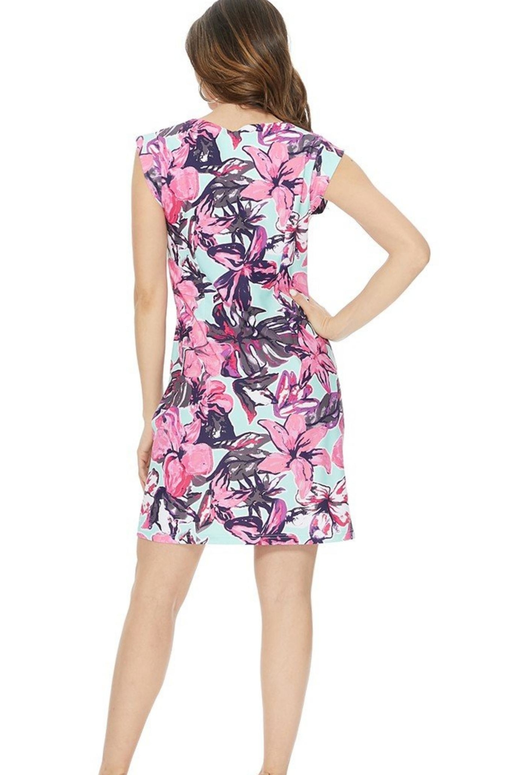 Aryeh Mint Floral Dress - Side Cropped Image
