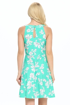 Aryeh Mint Keyhole Fit And Flare Dress - Alternate List Image