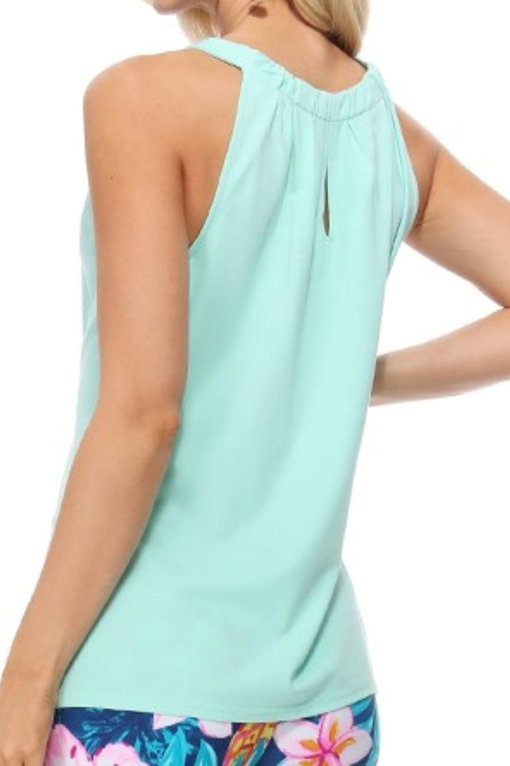 Aryeh Mint Sleeveless Keyhole Top - Side Cropped Image