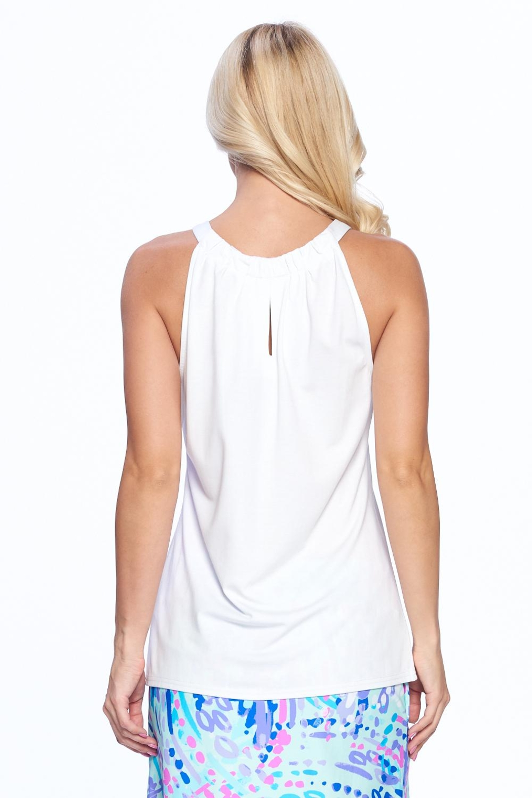 Aryeh Mint Sleeveless Keyhole Top - Front Full Image