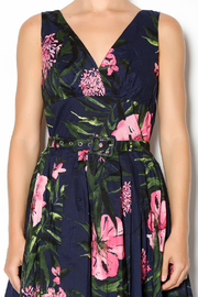 Aryeh Navy And Pink Floral Dress - Side cropped