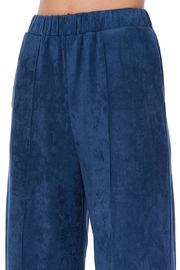 Aryeh Navy Faux Suede Pants - Front full body