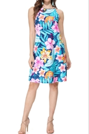 Aryeh Navy Floral Halter Dress - Product Mini Image